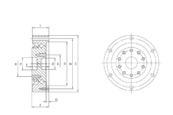 CSD系列谐波减速机专用交叉滚子轴承